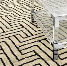 casa padrino luxus wohnzimmer teppich naturfarben schwarz 300 x 400 cm luxus kollektion
