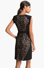 adrianna papell black lace dress dress yp