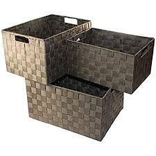 unbekannt aufbewahrungsbox 3er set badezimmer kiste korb geflochten kiste kosmetik box farbe braun