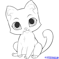 How To Draw An Easy Kitten Fresh Cute Baby Animal Coloring Pages Dragoart