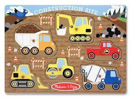 Amazon.com: Melissa & Doug Construction Site Vehicles Wooden Peg ... Melissa Doug Fire Truck Floor Puzzle Chunky 18pcs Disney Baby Mickey Mouse Friends Wooden 100 Pieces Target And Awesome Overland Park Ks Online Kids Consignment Sale Sound You Are My Everything Yame The Play Room Giant Engine Red Door J643 Ebay And Green Toys Peg Squirts Learning Co Truck Puzzles 1