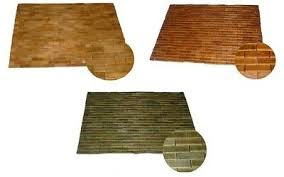 badvorleger bambus holz badteppich teak holzmatte badteppich