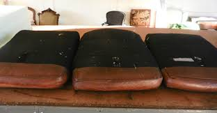 Replacement Sofa Cushion Inserts by Fix Flattened Down Leather Sofa Cushions Modhomeec