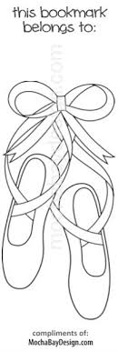Print Coloring Page Ballet Slippers