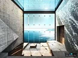 modern kitchen architecture u2013 luxury home wedged cliffside sunken