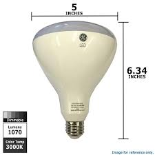 ge 13w br40 dimmable led 3000k 1070lm light bulb 85w equivalent