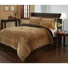 J Queen New York Marquis Curtains by Cheetah 3 Piece Velvet Plush Printed Comforter Set By Fraiche