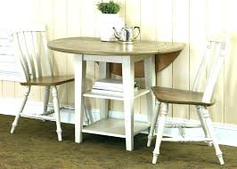 Round Dining Table And Chairs Drop Leaf Set Kitchen