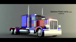 100 Optimus Prime Truck Model 3D Lorry Model 3Ds Max YouTube