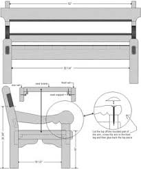 bench construction drawing google search construction