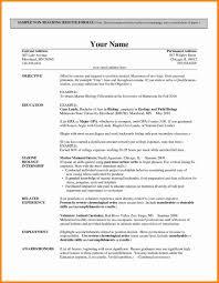 Resume Format For Teachers Teaching Job Sample Teacher