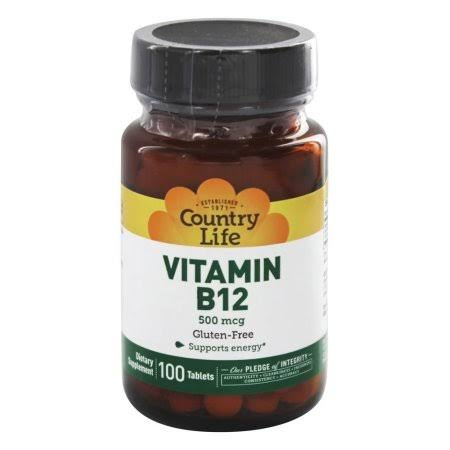 Country Life Vitamin B-12 Supplement - 500mcg, 100ct