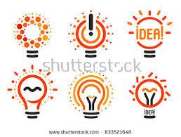 stylized set vector lightbulbs line dots stock vector 633521648