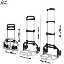 100 Collapsible Hand Truck Detachable Aluminum Folding Lightweight Portable Trolley