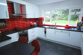 Red Black And White Kitchen Ideas 12