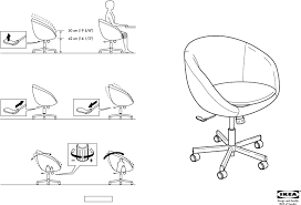 Skruvsta Swivel Chair Black by Download Ikea Skruvsta Swivel Chair Assembly Instruction For Free