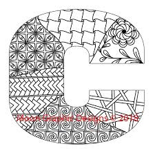 Monogram Letter B Adult Coloring Page Etsy