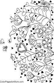 Coloring Pages For Adults Printable Detailed Flower Abstract Flowers