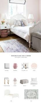 Nightstand Lamp A Sweet Blush Girls Bedroom Designed By Studio McGee Gets Recreated For Less Copycatchic Luxe Living Budget Home Decor And