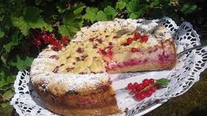 käse streusel torte mit johannisbeeren