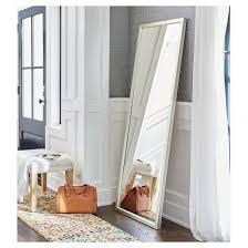 Rectangle Leaner Floor Mirror Silver