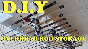 diy how to build a cheap easy overhead fishing rod storage rack