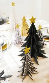 Christmas Tree Books Diy by My Black U0026 Gold Christmas Party Tablescape Origami Christmas