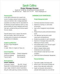 Cross Functional Resume Project Manager Example