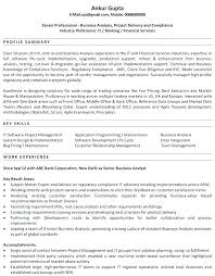 Resume Examples For Business Banking As Well Systems Analyst Sample Analysis Templates Requirements Gathering