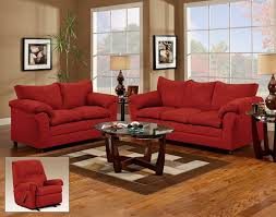 Microfiber Couch And Loveseat Sets Buchannan 3 Piece Living Room Set Red Chairs With Tables