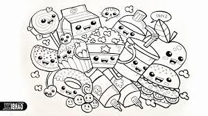 Quick Kawaii Food Coloring Pages Coloringsuite Com Striking Cute