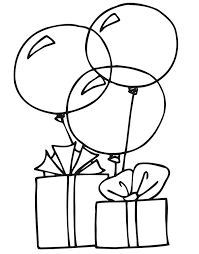 Birthday Balloons Coloring Pages