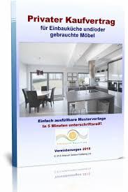 privater kaufvertrag für einbauküche und gebrauchte möbel