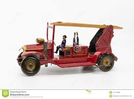 100 Antique Metal Toy Trucks Vintage Fire Truck From The 1930s Stock Photo Image Of