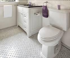 retro black white bathroom floor tile ideas and pictures