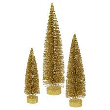 12 16 20 Unlit Artificial Christmas Tree Glitter Oval Gold Set
