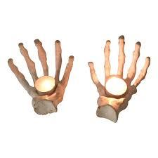 Halloween 1 Cast by Giftbay Halloween Hand Bone Pair Votive Holders Cast Aluminum Metal