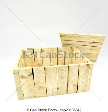 Open Wooden Crate Stock Illustration
