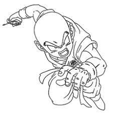 Character Krillin Majin Buu Villain Coloring Pages