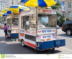 Fast Food Cart Selling Hot Dogs And Other Snack In New York City ...