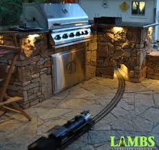outdoor kitchen lighting l shaped outdoor kitchen counters