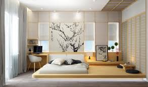 BedroomJapanese Style Bedroom Make Minimal Styling Idea With Narrow Wood Desk And Wall