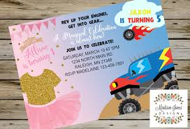Tutu And Monster Truck BIRTHDAY INVITATION Birthday Party Free Printable Birthday Cards With Monster Trucks Awesome Blaze And The Machines Invitations Templates List Truck Party 50 Unique Ideas Cookie Free Pvc Invites Vip Invitation Novel Concept Designs Mud Thank You Card Truck Party Printable
