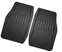 Armor All 78830 Black Rubber Floor Mat For Truck/SUV - 2 Piece
