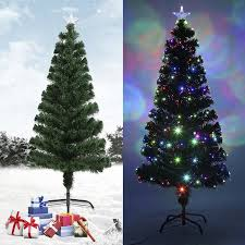 CNMODLE Festival Indoor Outdoor Colorful LED Color Changing Fiber Optic Lights Tall Christmas Tree Luxury