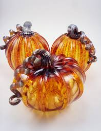 Blown Glass Pumpkins Boston by Harvest Luke Adams Glass Blowing Studio