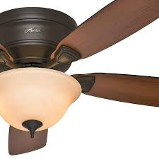 Honeywell Ceiling Fan Remote 40009 by 48 Hunter New Bronze Low Profile Ceiling Fan Bowl Light Kit W