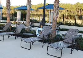 Vinyl Straps For Patio Chairs by 16 In Seat West Wind Style Aluminum Vinyl Strap Chaise Lounge