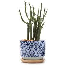 T4U 3 Inch Ceramic Japanese Style Serial No3 Succulent Plant Pot Cactus