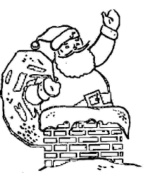 Boat Coloring Page Christmas Chimney Father